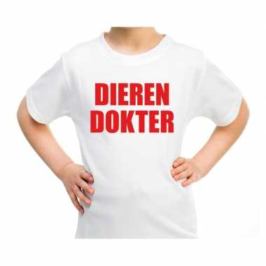 Dieren dokter verkleed t-shirt wit voor kinderen