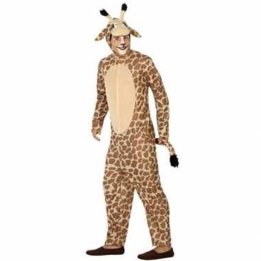 Dierenpak verkleed kostuum giraffe voor volwassenen