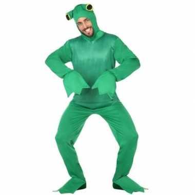 Groene kikker dieren verkleedpak voor volwassenen