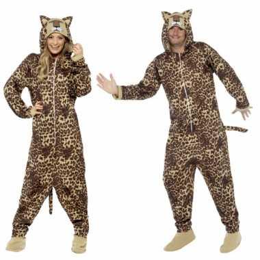 Luipaardjes onesie voor volwassenen