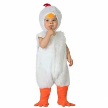 Verkleedpak witte kip voor peuters