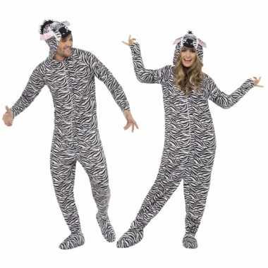 Zebra Onesie voor volwassenen
