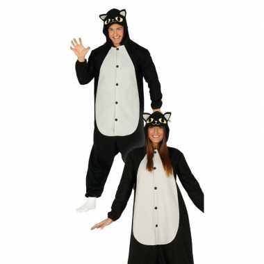 Zwarte kat/poes dieren verkleedpak voor heren